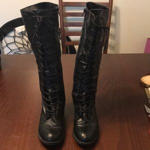 Black Forever 21 knee high boots